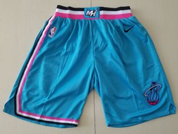 Nba Nike Miami Heat Nike 2019-20 Blue City Edition Shorts