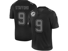Mens Nfl Detroit Lions #9 Matthew Stafford Black Olive 2019 Salute To Service Game Jersey