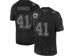 Mens Nfl New Orleans Saints #41 Alvin Kamara Black Olive 2019 Salute To Service Game Jersey