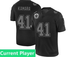 Mens Nfl New Orleans Saints Current Player Black Olive 2019 Salute To Service Game Jersey