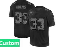 Mens Nfl New York Jets Custom Made Black Olive 2019 Salute To Service Game Jersey