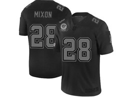 Mens Nfl Cincinnati Bengals #28 Joe Mixon Black Olive 2019 Salute To Service Game Jersey