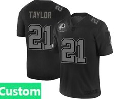 Mens Nfl Washington Redskins Custom Made Black Olive 2019 Salute To Service Game Jersey