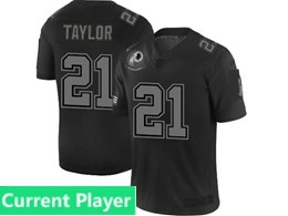 Mens Nfl Washington Redskins Current Player Black Olive 2019 Salute To Service Game Jersey