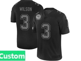 Mens Nfl Seattle Seahawks Custom Made Black Olive 2019 Salute To Service Game Jersey