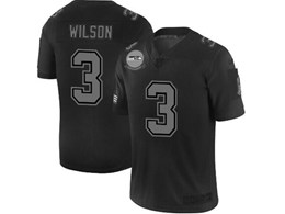 Mens Nfl Seattle Seahawks #3 Russell Wilson Black Olive 2019 Salute To Service Game Jersey