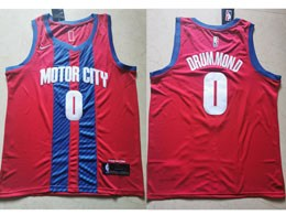 Mens 2019-20 Nba Detroit Pistons #0 Andre Drummond Red Motor City Edition Swingman Jersey
