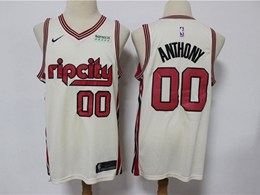 Mens 2019-20 Nba Portland Trail Blazers #00 Anthony White Rip City Edition Nike Swingman Jersey