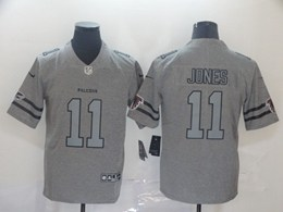 Mens Nfl Atlanta Falcons #11 Julio Jones Heather Grey Retro Vapor Untouchable Limited Jersey