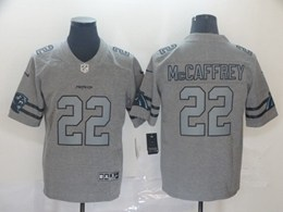 Mens Nfl Carolina Panthers #22 Christian Mccaffrey Heather Grey Retro Vapor Untouchable Limited Jersey