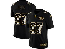 Mens Nfl San Francisco 49ers #97 Nick Bosa Black Jesus Faith Vapor Untouchable Limited Jerseys