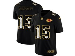 Mens Nfl Kansas City Chiefs #15 Patrick Mahomes Black Jesus Faith Vapor Untouchable Limited Jerseys