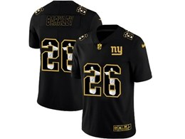 Mens Nfl New York Giants #26 Saquon Barkley Black Jesus Faith Vapor Untouchable Limited Jerseys