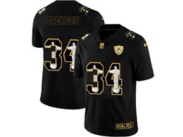 Mens Nfl Oakland Raiders #34 Bo Jackson Black Jesus Faith Vapor Untouchable Limited Jerseys