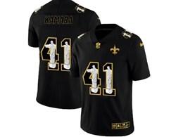 Mens Nfl New Orleans Saints #41 Alvin Kamara Black Jesus Faith Vapor Untouchable Limited Jerseys