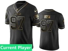 Mens Nfl San Francisco 49ers Current Player Black Retro Golden Edition Vapor Untouchable Limited Jerseys