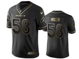 Mens Nfl Denver Broncos #58 Von Miller Black Retro Golden Edition Vapor Untouchable Limited Jerseys