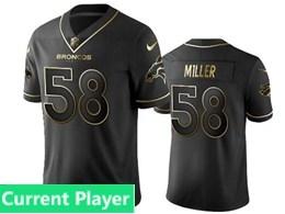 Mens Nfl Denver Broncos Current Player Black Retro Golden Edition Vapor Untouchable Limited Jerseys