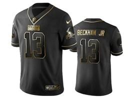 Mens Nfl Cleveland Browns #13 Odell Beckham Jr Black Retro Golden Edition Vapor Untouchable Limited Jerseys