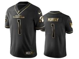 Mens Nfl Arizona Cardinals #1 Kyler Murray Black Retro Golden Edition Vapor Untouchable Limited Jerseys