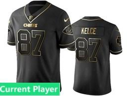 Mens Nfl Kansas City Chiefs Current Player Black Retro Golden Edition Vapor Untouchable Limited Jerseys