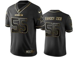 Mens Nfl Dallas Cowboys #55 Leighton Vander Esch Black Retro Golden Edition Vapor Untouchable Limited Jerseys