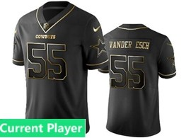Mens Nfl Dallas Cowboys Current Player Black Retro Golden Edition Vapor Untouchable Limited Jerseys