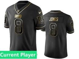 Mens Nfl New York Giants Current Player Black Retro Golden Edition Vapor Untouchable Limited Jerseys