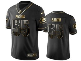 Mens Nfl Green Bay Packers #55 Za'darius Smith Black Retro Golden Edition Vapor Untouchable Limited Jerseys