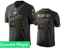 Mens Nfl Carolina Panthers Current Player Black Retro Golden Edition Vapor Untouchable Limited Jerseys