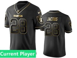 Mens Nfl Oakland Raiders Current Player Black Retro Golden Edition Vapor Untouchable Limited Jerseys