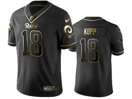 Mens Nfl Los Angeles Rams #18 Cooper Kupp Black Retro Golden Edition Vapor Untouchable Limited Jerseys