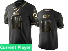 Mens Nfl Los Angeles Rams Current Player Bblack Retro Golden Edition Vapor Untouchable Limited Jerseys