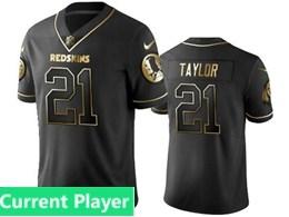 Mens Nfl Washington Redskins Current Player Black Retro Golden Edition Vapor Untouchable Limited Jerseys
