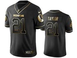 Mens Nfl Washington Redskins #21 Sean Taylor Black Retro Golden Edition Vapor Untouchable Limited Jerseys
