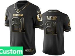 Mens Nfl Washington Redskins Custom Made Black Retro Golden Edition Vapor Untouchable Limited Jerseys