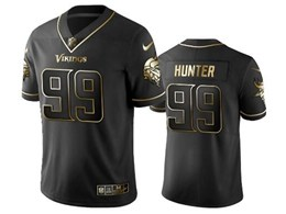 Mens Nfl Minnesota Vikings #99 Danielle Hunter Black Retro Golden Edition Vapor Untouchable Limited Jerseys