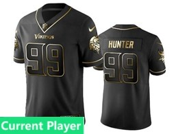 Mens Nfl Minnesota Vikings Current Player Black Retro Golden Edition Vapor Untouchable Limited Jerseys
