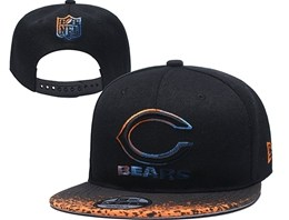 Mens Nfl Chicago Bears Black Snapback Adjustable Hats