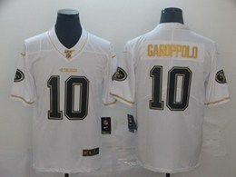 Mens Nfl San Francisco 49ers #10 Jimmy Garoppolo White Golden 100th Vapor Untouchable Limited Jersey