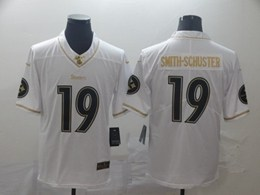 Mens Nfl Pittsburgh Steelers #19 Juju Smith-schuster White Golden 100th Vapor Untouchable Limited Jersey