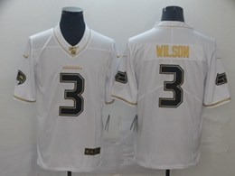 Mens Nfl Seattle Seahawks #3 Russell Wilson White Golden 100th Vapor Untouchable Limited Jersey