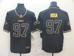 Mens Nfl San Francisco 49ers #97 Nick Bosa Black Retro Golden Edition Vapor Untouchable Limited Jerseys