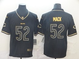 Mens Nfl Chicago Bears #52 Khalil Mack Black Retro Golden Edition Vapor Untouchable Limited Jerseys