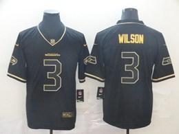 Mens Nfl Seattle Seahawks #3 Russell Wilson Black Retro Golden Edition Vapor Untouchable Limited Jerseys