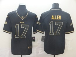 Mens Nfl Buffalo Bills #17 Josh Allen Black Retro Golden Edition Vapor Untouchable Limited Jerseys