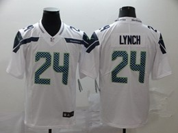 Mens Women Nfl Seattle Seahawks #24 Marshawn Lynch White Vapor Untouchable Limited Jerseys