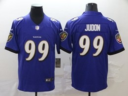 Mens Baltimore Ravens #99 Judon Purple Vapor Untouchable Limited Jersey