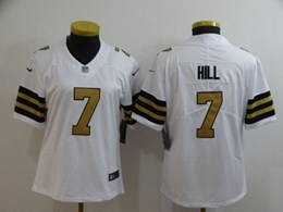 Women Nfl New Orleans Saints #7 Taysom Hill White Color Rush Vapor Untouchable Limited Player Jersey