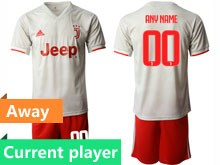 Mens 19-20 Soccer Juventus Club Current Player Gray Away Short Sleeve Suit Jersey
